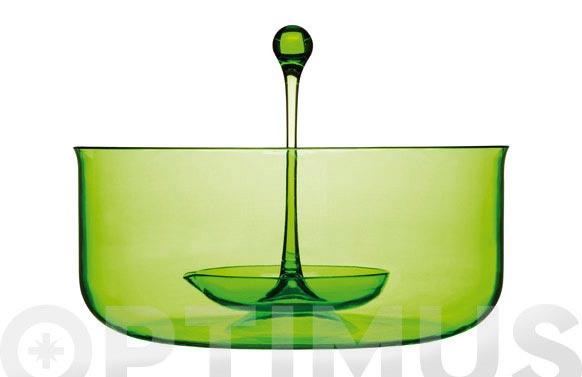 Bol con cazo verde 23,7 cm