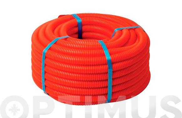Tubo corrugado saniflex rojo m 13