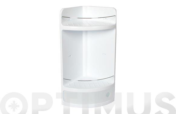 Rinconera con cajon 20 x 20 x 50 cm blanco