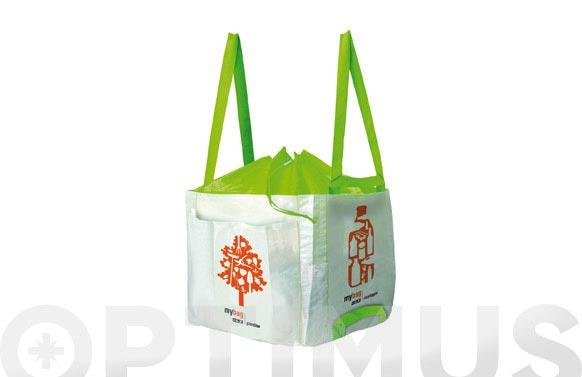 "Saco ""my bag"" con asas 80 lt 41 x 41 x 41"