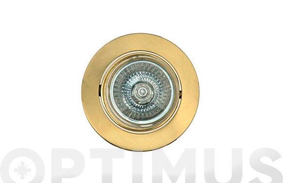 Empotrable halogeno basculante cuadrado 12v oro mate