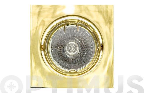 Empotrable halogeno basculante cuadrado 12v oro