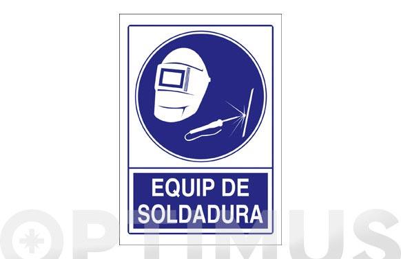 Señal obligacion catalan 297x210 mm equip de soldadura