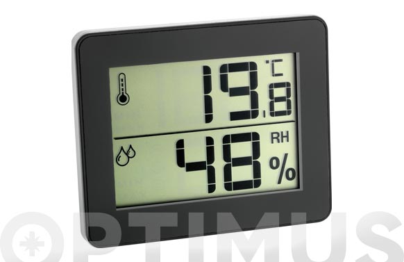 Termo-higrometro reloj digital 30.5027.01 negro
