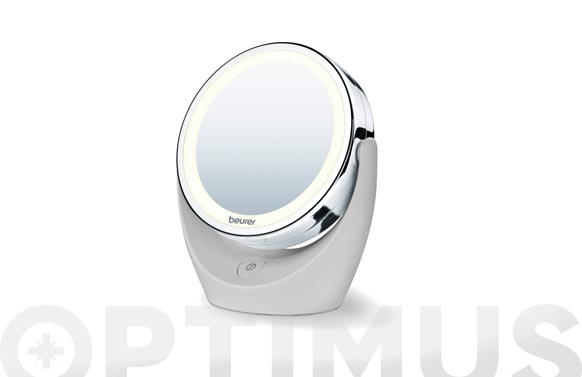 Espejo baño con luz aumento x5 ø 12 cm