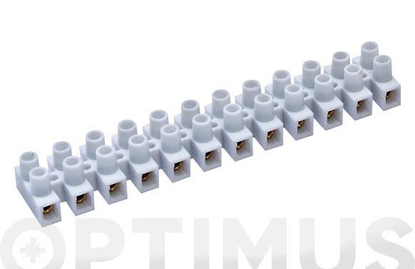 Regleta conexion elec homolog. 6 mm 41a blanco