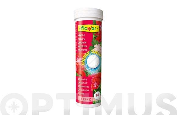 Abono energy-tablet nutrisol geranios y plantas flor