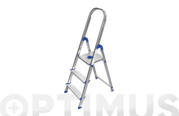 Escalera aluminio peldaño ancho 3 peld plus