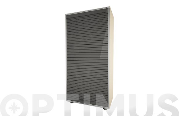 Armario modulo persiana gris 126 x 62,5 x 35 cm
