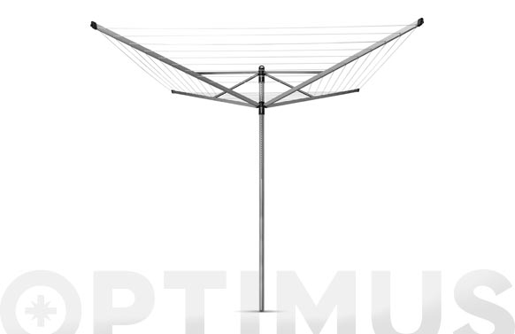 Tendedero rotary 4 brazos 50m + soporte 45 mm
