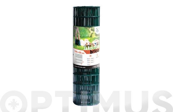 Malla jarditor classic verde 100x50 mm altura 100 cm