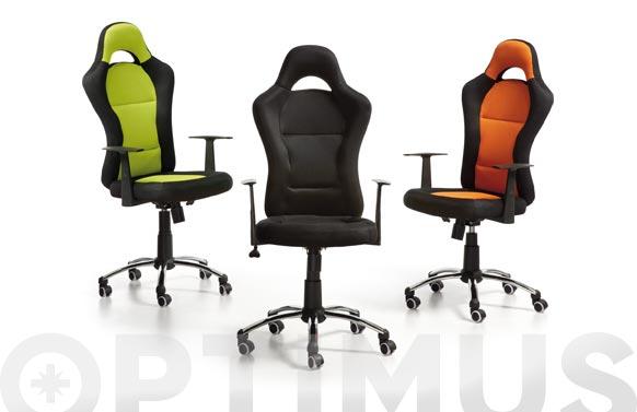 Silla oficina formula verde/negro