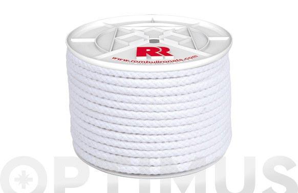 Cuerda algodon trenzado con alma ø 6 mm 100 mt blanco
