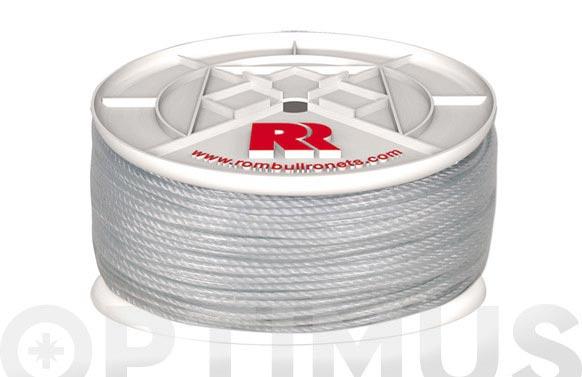 Cuerda polietileno cableada plastificada 4 c ø 5mm 100 mt blanco