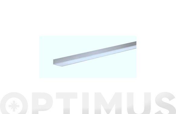 Perfil angulo aluminio natural 1 m 15 x 15 x 1 mm