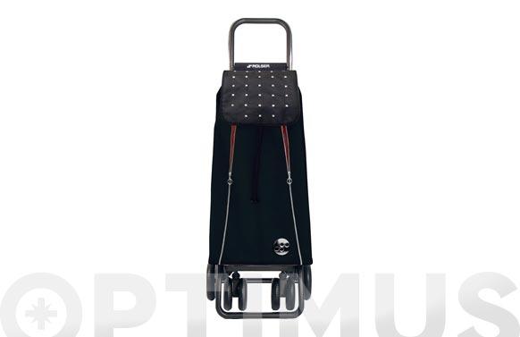 Carro compra 2 + 2 giratorias doble plegado i-max rock logic tour negro-rojo