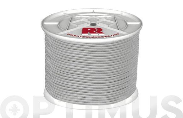 Cuerda elastica poliester/latex ø 8 mm 100 mt blanco