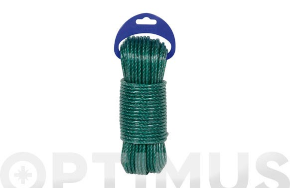 Cable acero plastificado ø 3,5mm 20 mt verde