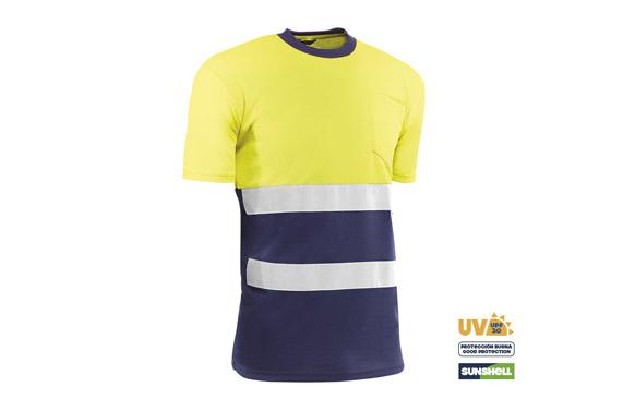 Camiseta alta visibilidad t m azul