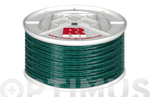 Cuerda polietileno cableada plastificada 4 c ø 5mm 100 mt verde