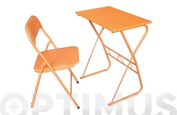 Mesa + silla (set escolar) naranja