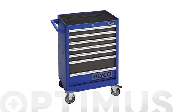 Carro herramientas metalico 7 cajones azul