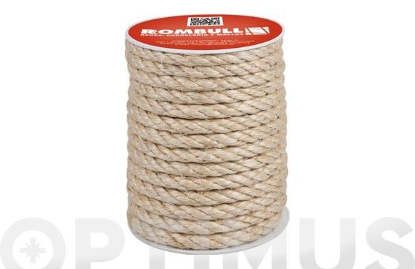 Cuerda sisal cableada 4 cabos ø 6 mm 25 mt
