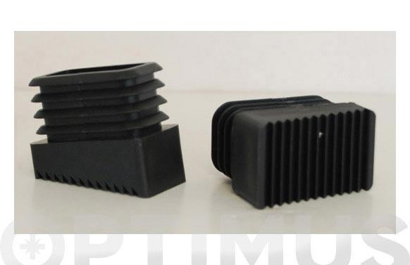 Taco plastico escalera aluminio domestica 40 x 20 delantero juego 2 unid