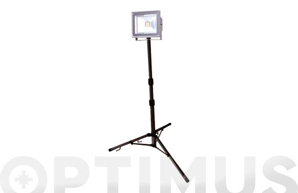 Foco proyector led 50 w con tripode 4000 lm luz fria ip65