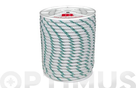 Cuerda polipropileno trenzada con alma ø 8 mm 50 mt blanco
