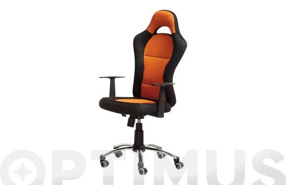 Silla oficina formula naranja/negro