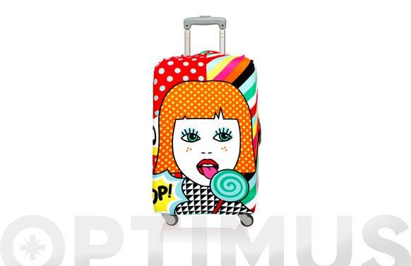 Funda maleta decorada 58x65 pop lollipop