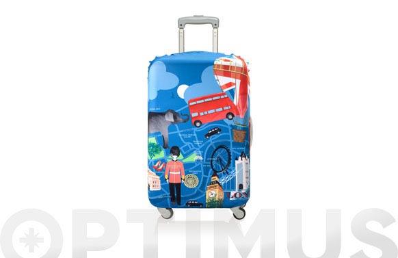 Funda maleta decorada 58x65 london