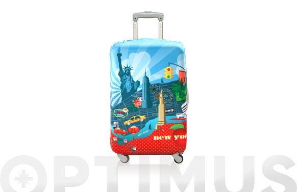 Funda maleta decorada 58x65 new york