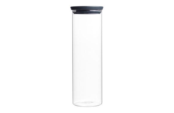 Bote apilable cristal tapa gris 1,9 l