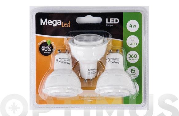 Led dicroica (pack 3 unidades) gu10 4w luz calida