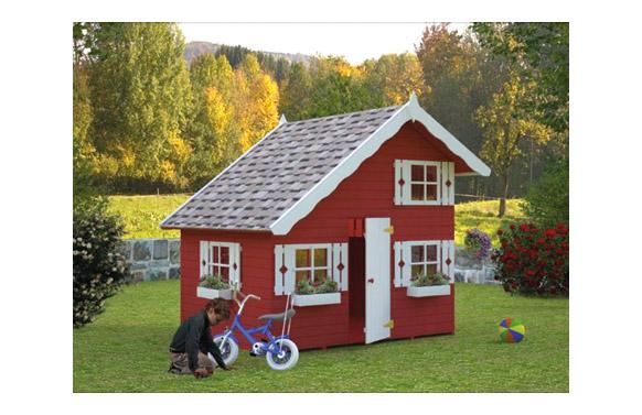 Caseta madera infantil aroa sin pintar 220 x180 cm