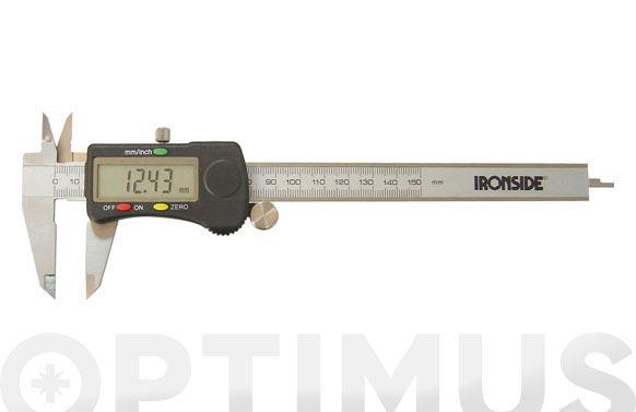 "Pie de rey digital 0-150 mm. calibre 0-150 mm. / 0,01 mm + 0,0005"""