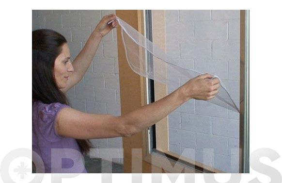 Mosquitera ventana fijacion textil practicable 150x180-anticalor