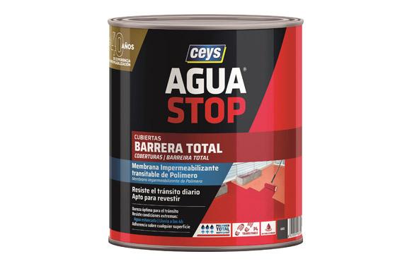 Impermeabilizante agua stop barrera total 1 kg gris