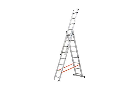 Escalera aluminio profesional triple combinada 3x7 peld