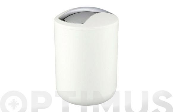 Cubo baño abatible brasil blanco 2 l