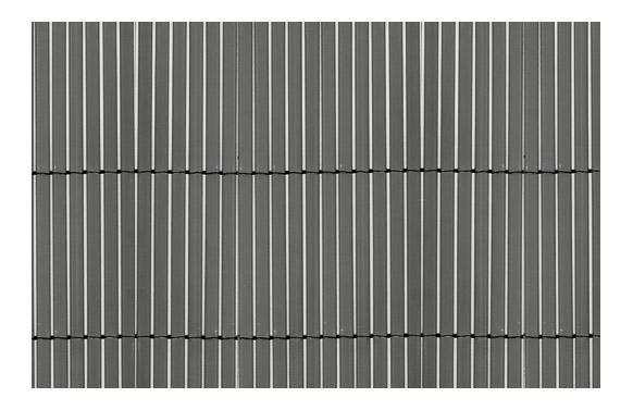 Cañizo sintetico caña fina y entera gris 1 x 5 m