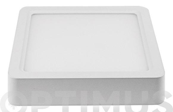 Downlight superficie cuadrado led 20w luz blanca (4500k)