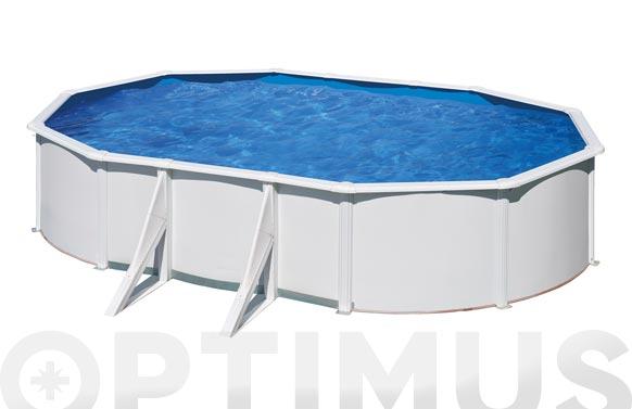 Piscina acero ovalada fidji 730 x 375 x 120 cm blanca