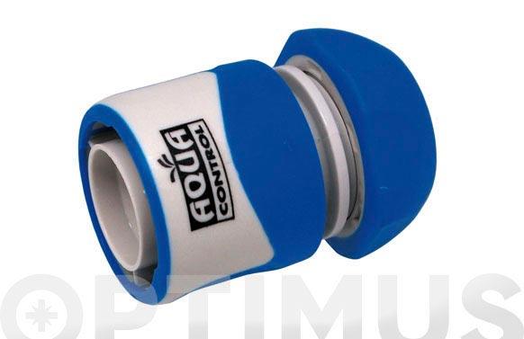 Enlace rapido 15 mm. sin stop bicomponente: acetal (pom) y caucho