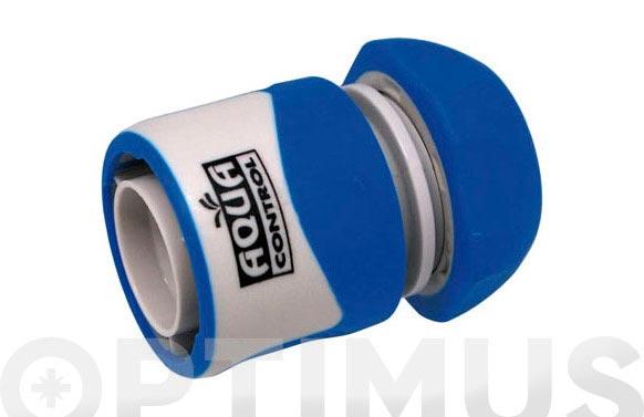 Enlace rapido 19 mm. con stop bicomponente: acetal (pom) y caucho
