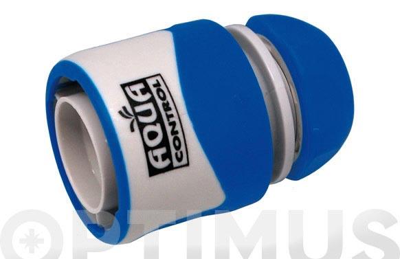 Enlace rapido para manguera helicoidal 10 mm. stop bicomponente: acetal (pom) y caucho