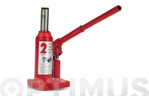 Gato hidraulico botella 2 ton. regulacion 158/315 mm