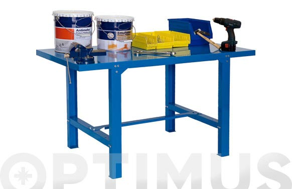 Banco trabajo metalico bt6 azul 73 x 120 x 83 cm